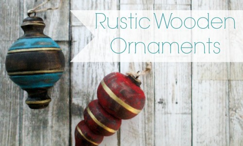 Rustic Wooden Christmas Ornaments