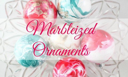 Marbleized Ornaments