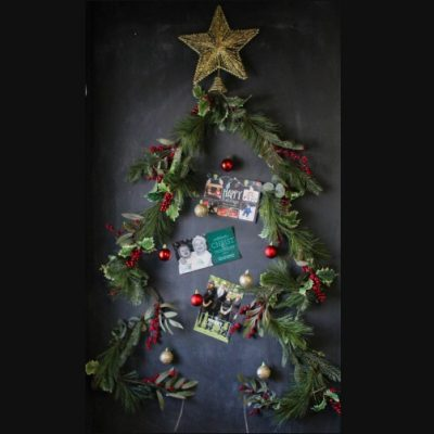 How To Make A DIY Christmas Tree Card Display