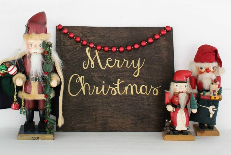Handpainted Christmas Signs That Anyone Can Make Lovely Etc Best Make Your Own Decorative Sign