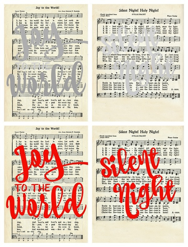 image relating to Free Printable Vintage Christmas Sheet Music named Xmas Carol Artwork with Absolutely free Printables - Attractive And so on.