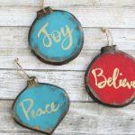 Rustic Glam DIY Ornaments