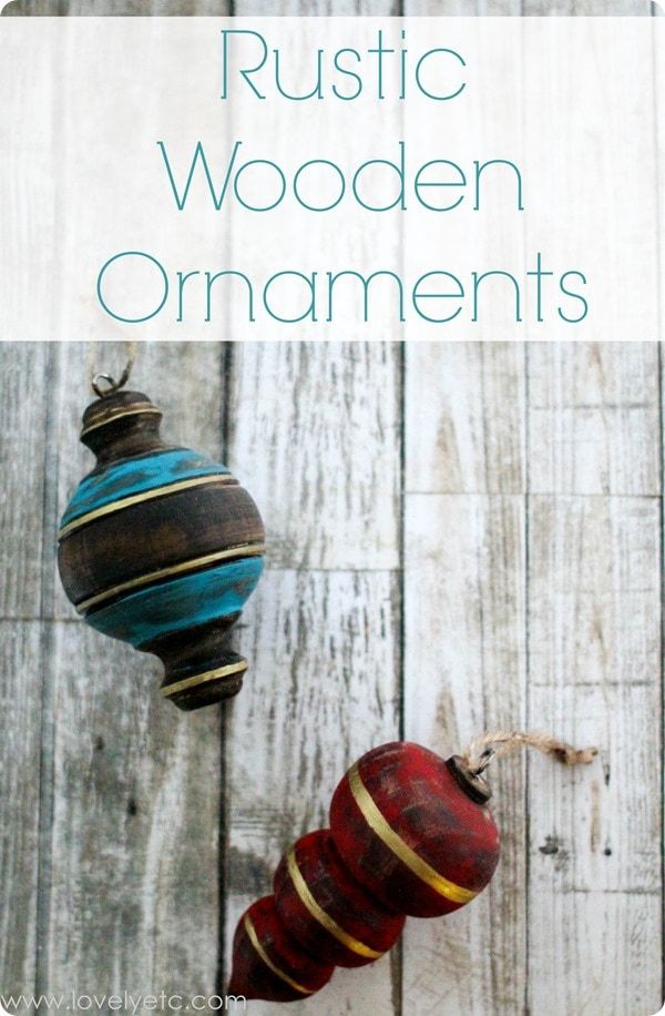 rustic wooden ornaments