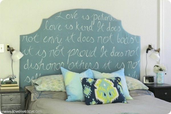 DIY love upholstered headboard