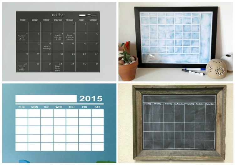 command center ideas - calendars