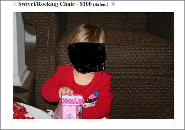 how not to sell a chair on craigslist