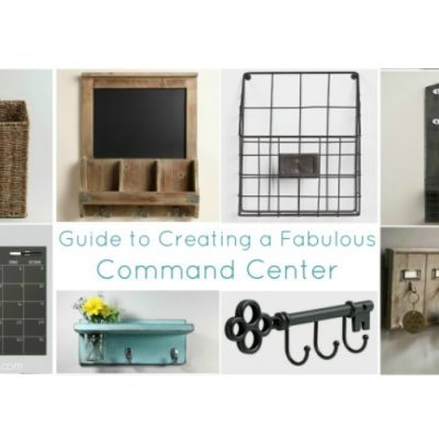 Getting organized with a fabulous command center