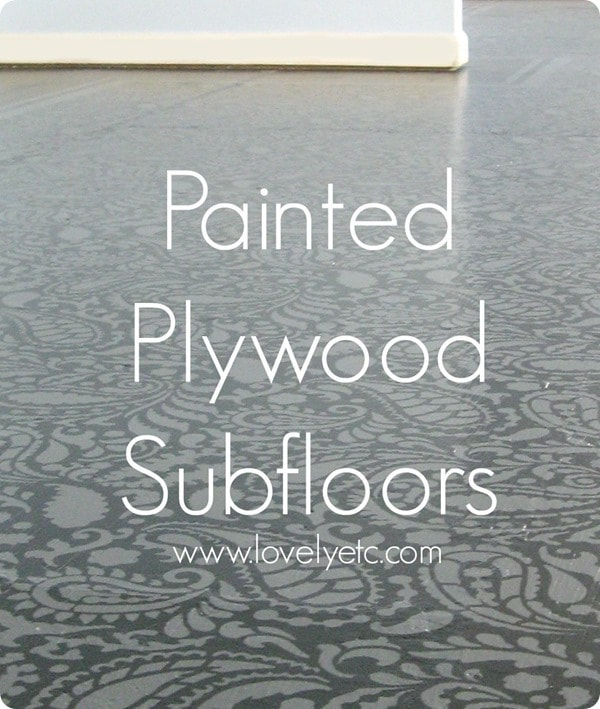painted stenciled plywood subfloors