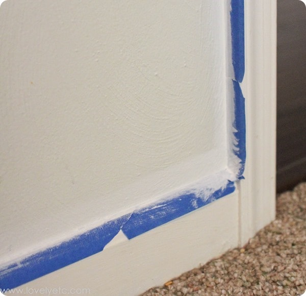 sealing the edges of painters tape