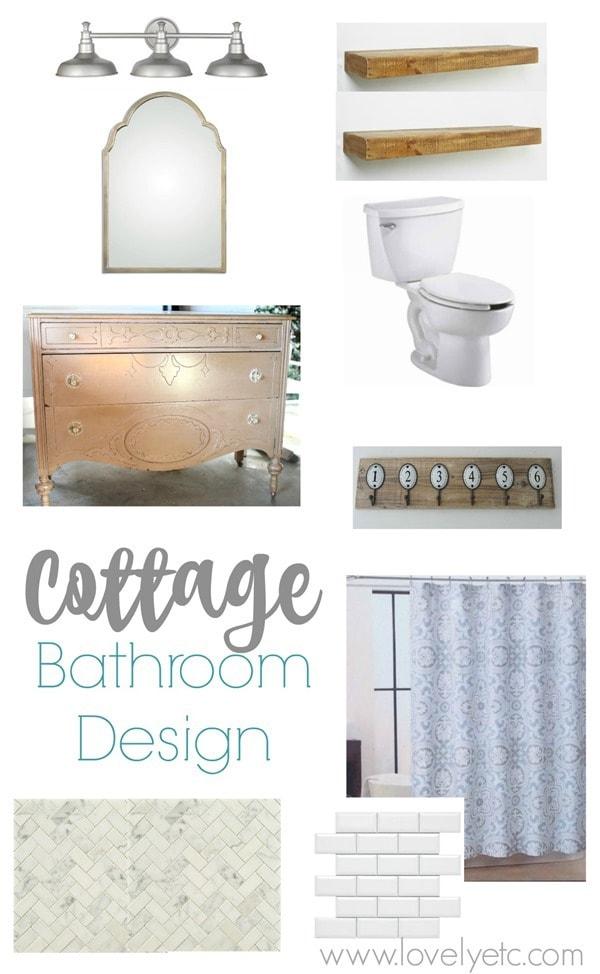 cottage bathroom design