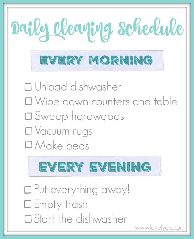 daily routine template