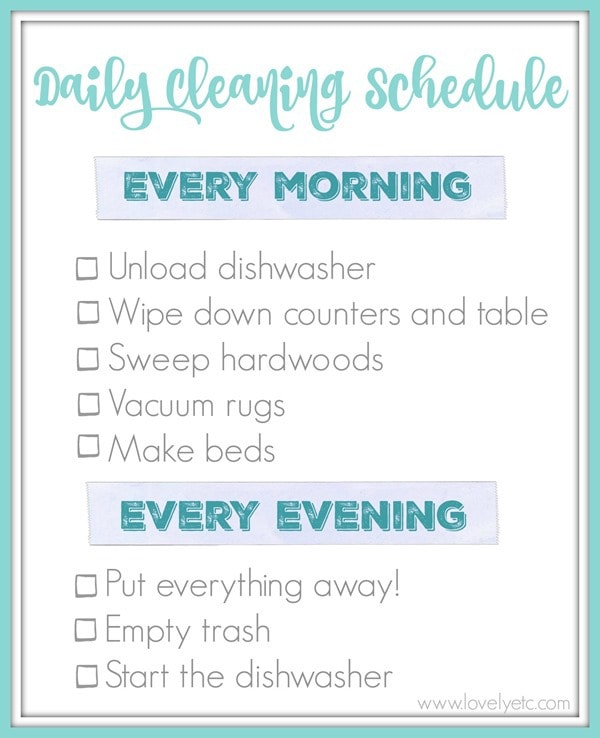 easy daily cleaning routine