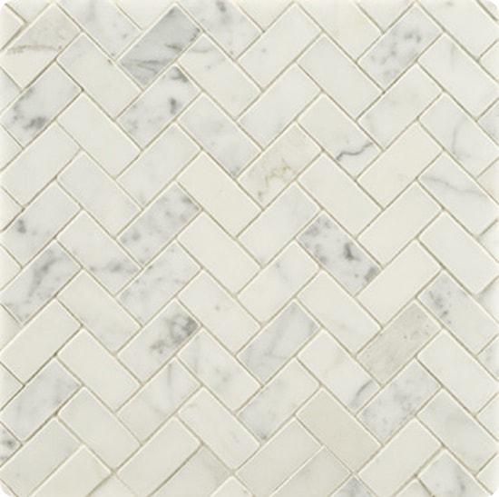 marble herringbone tile