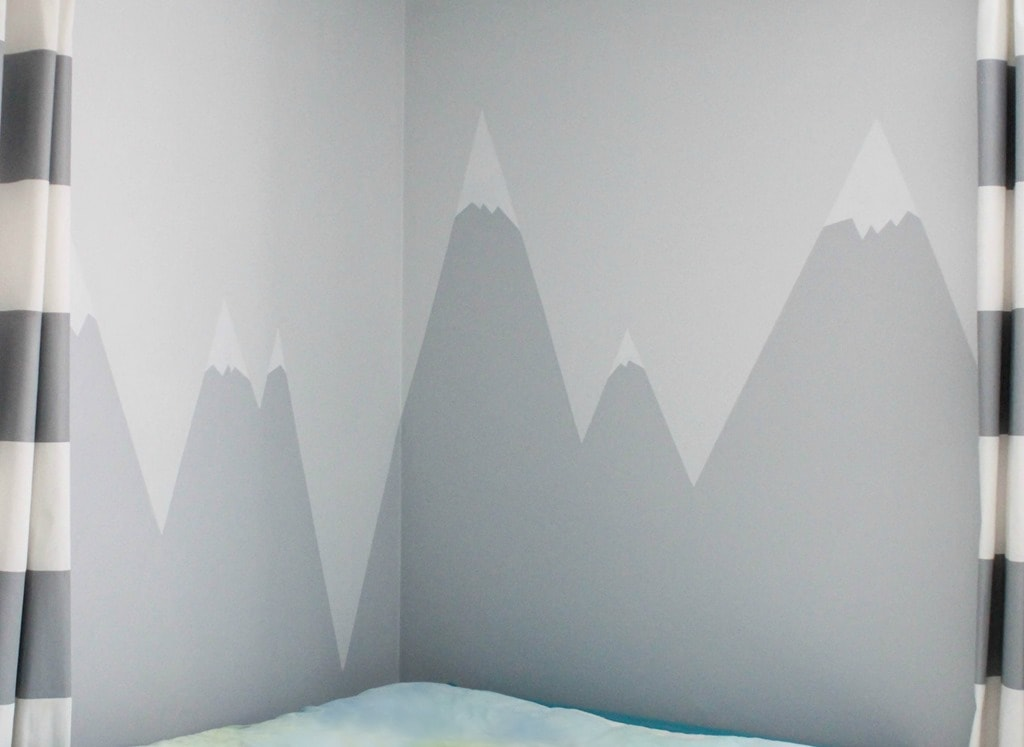 Mountain Mural With Snowy Peaks Part 48