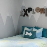 A mountain mural for the little explorer