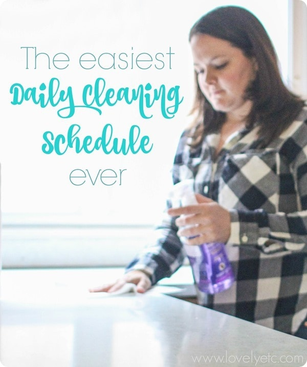 the easiest daily cleaning schedule ever