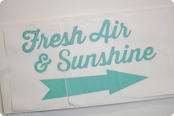 using a pencil transfer to make a painted sign