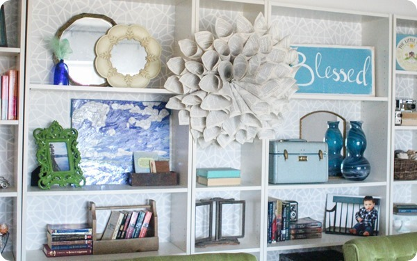 stenciled Billy bookcases