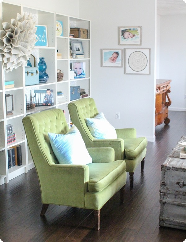 Spring home tour with green chairs