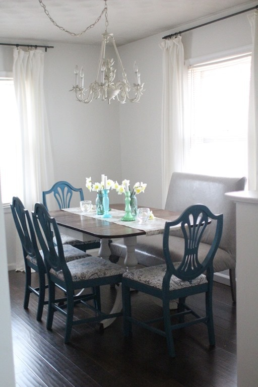 dining table with leather settee
