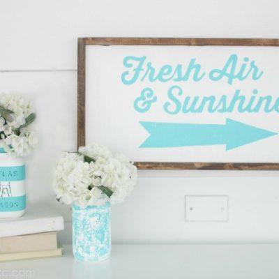 DIY Sign to Celebrate Spring