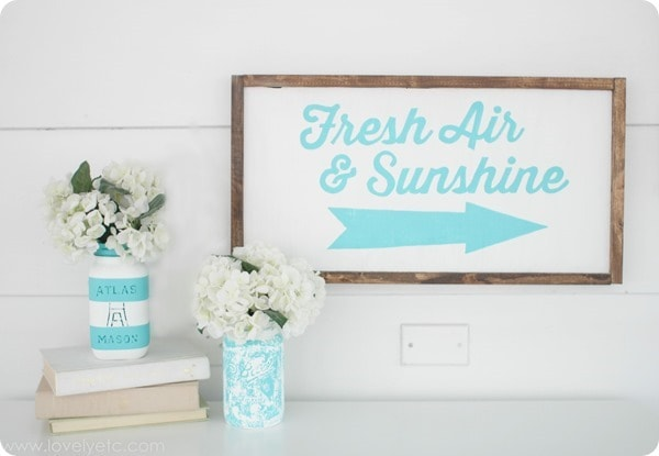 diy sign for spring