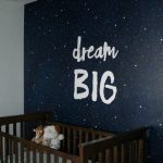 Painting a night sky mural