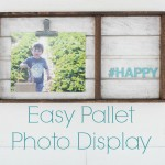 Simple pallet photo display