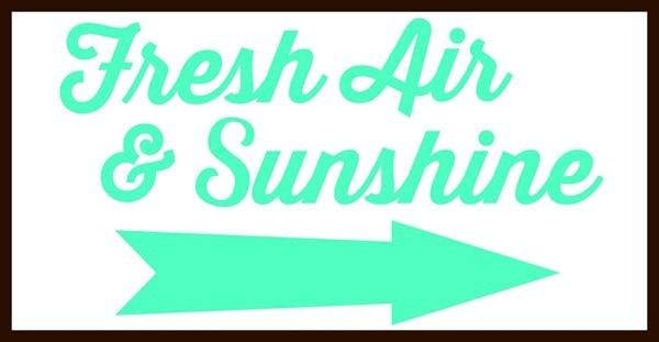 fresh air and sunshine picmonkey design