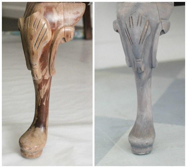 gray washed leg