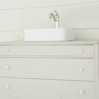 How to make a dresser into a bathroom vanity: The nitty gritty