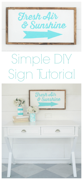 simple diy sign tutorial