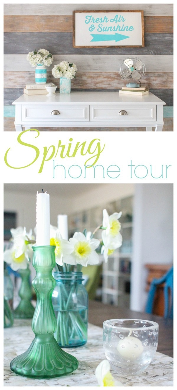 colorful spring home tour
