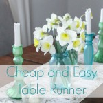 How to make a cheap and easy table runner