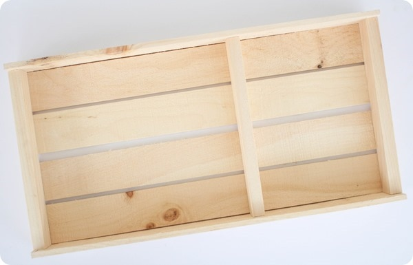 rustic wood pallet tray