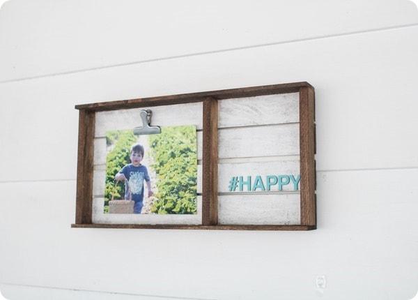 wood plank photo frame