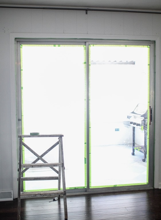 Taping Door Frame For Paint