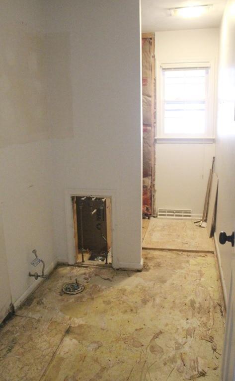 Working with contractors a semi diy bathroom renovation for Diy bathroom demolition