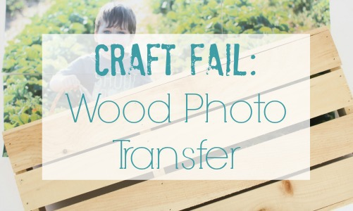 Craft fail: Wood photo transfer