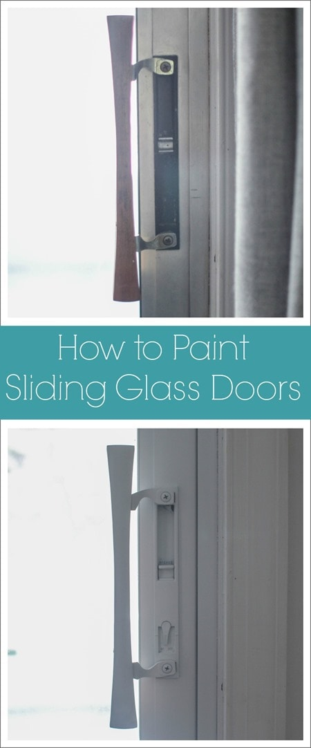 how to paint sliding glass doors