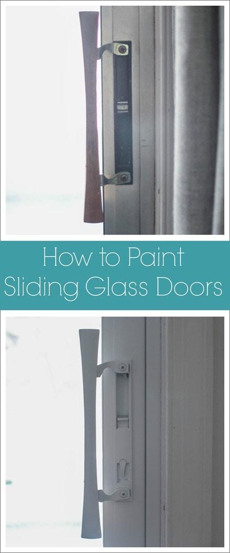 Painted Sliding Glass Doors One Less Eyesore Lovely Etc