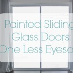 Painted Sliding Glass Doors: One Less Eyesore