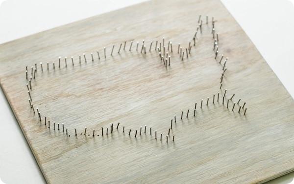 nail and string map art