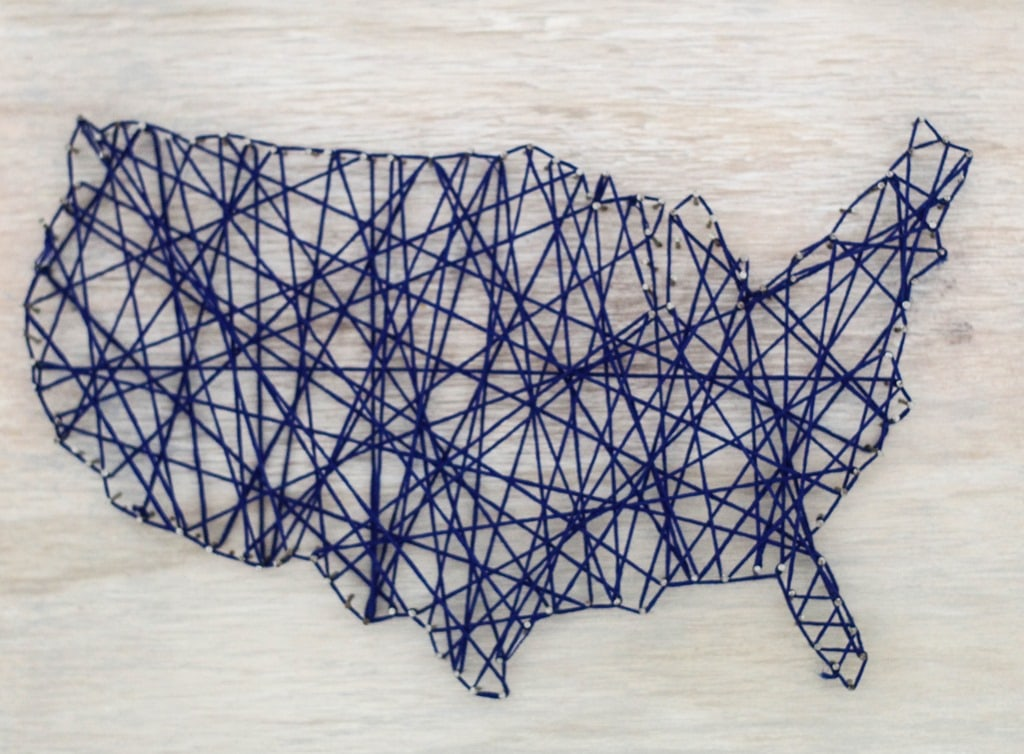 DIY Map String Art - Lovely Etc.