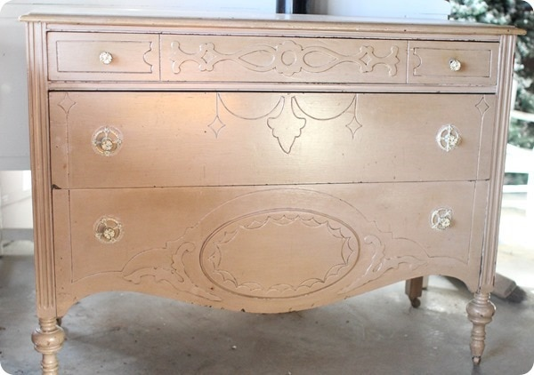 antique dresser vanity before