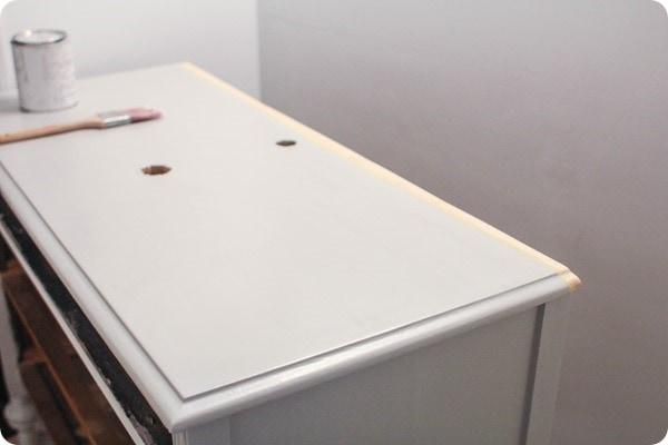 making a dresser into a bathroom vanity