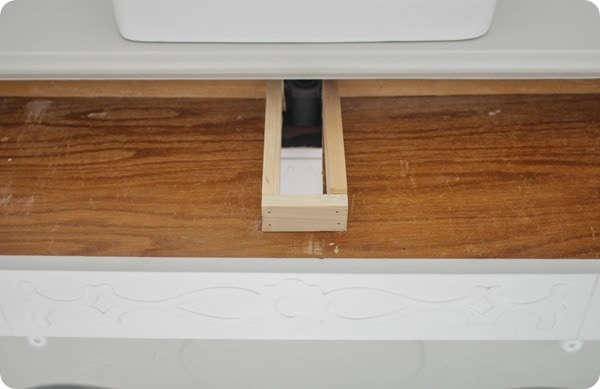 fixing dresser drawers for a bathroom vanity