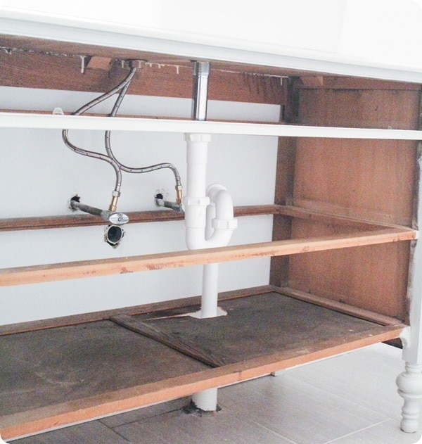plumbing a dresser vanity