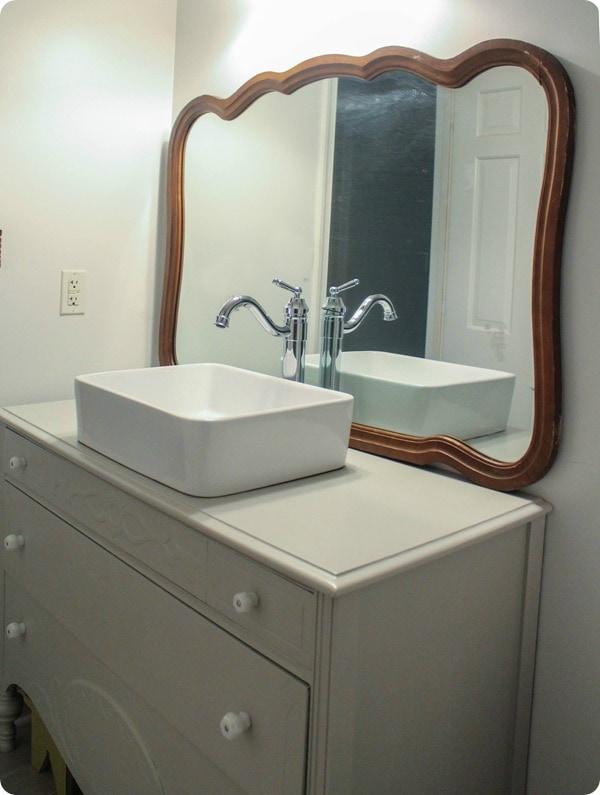 The Cheapest Bathroom Mirror Ever