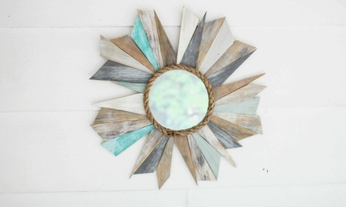 DIY Beachy Sunburst Mirror